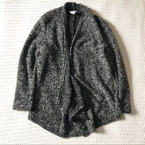 Dress Barn Sunday black white boucle cardigan M